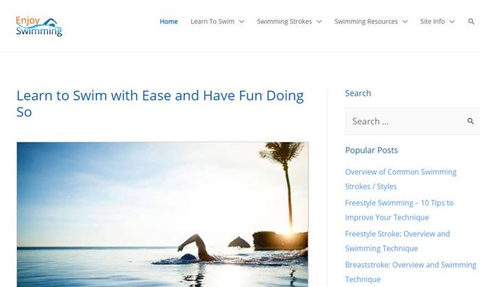 مثال مدونة السباحة
